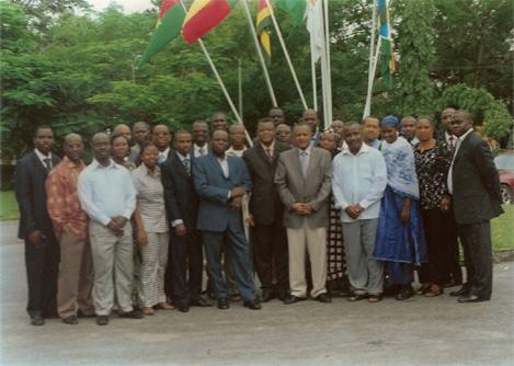 Participants à l'atelier de formation des dirigeants sur la Gouvernance dans les IMF, Abidjan Côte-D'ivoire Juillet 2009